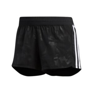 adidas 3-Stripes Embossed short dames zwart/wit